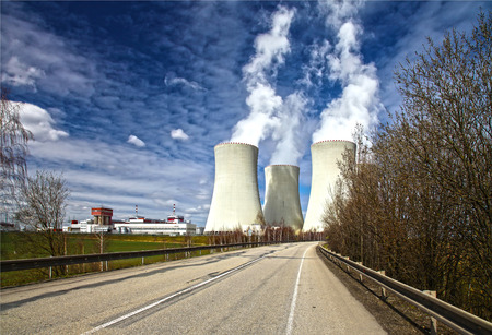 temelin: Nuclear power plant Temelin in Czech Republic Europe, HDR image Editorial