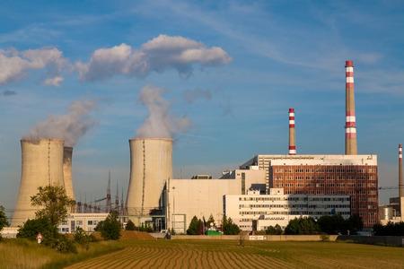 power: Nuclear power plant Temelin in Czech Republic Europe