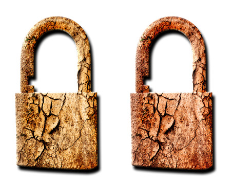 padlocks: Padlocks isolated on white background