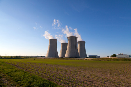 dukovany: Nuclear power plant Dukovany in Czech Republic Europe Stock Photo