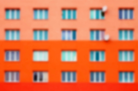 prefabricated: Detail of prefabricated house, blurred