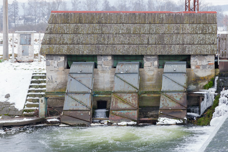 hydroelectric: Small hydroelectric power station is situated near the river,Czech Republic