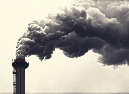 dense: Dense smoke from a chimney