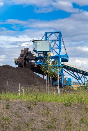 trencher: A giant wheel excavator in brown coal mine