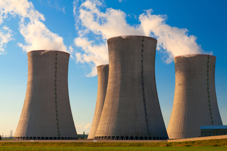 atomic energy: Nuclear power plant Dukovany in Czech Republic Europe Stock Photo