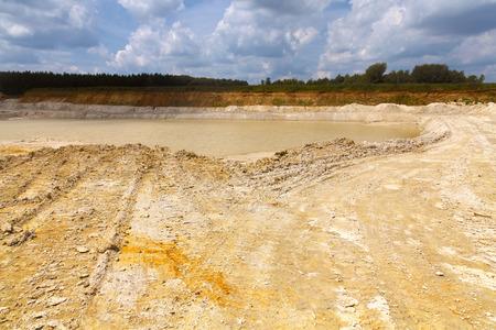 kaolin: Beautiful quarry in nature