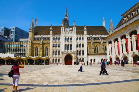 guildhall: LONDON, UK - JULY 12, 2013, Guildhall Yard office buildings Editorial