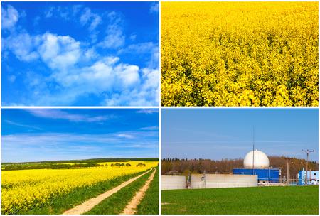 energy production: Bio gas production Stock Photo