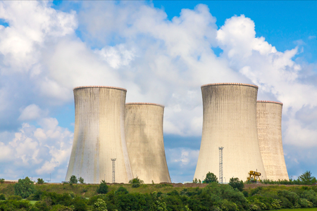thermal pollution: Thermal power plant, Czech Republic Stock Photo