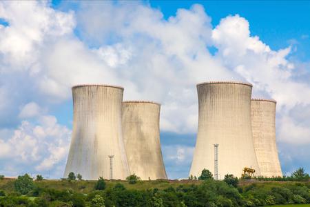 Thermal power plant, Czech Republic Standard-Bild