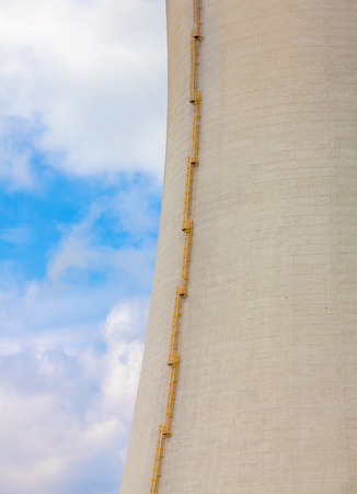 temelin: Close-up of the cooling tower of the nuclear power plant Temelin - Czech Republic Stock Photo