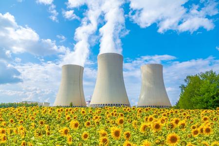 Centrale nucléaire en République tchèque Europe Banque d'images - 73163633