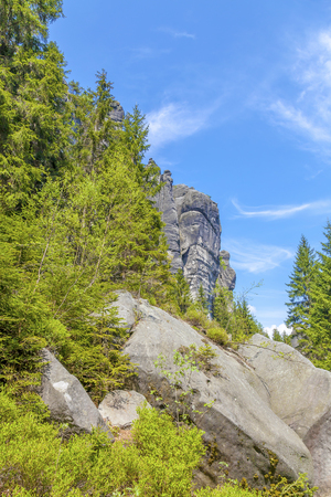 Rocks in the National park of Adrspach-Teplice Rocks - Czech Republic Stock Photo