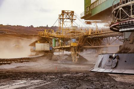 Giant bucket wheel excavator for digging the brown coal, Czech Republic Stock Photo