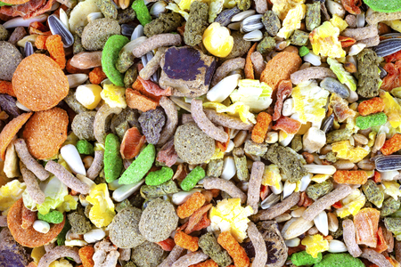 Rodent food mix of grains and seeds