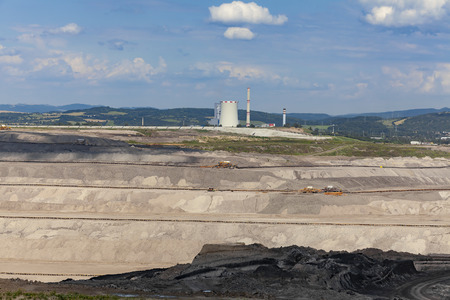 Thermal power station, coal mining region of North-western Bohemia, Czech Republic Stock Photo