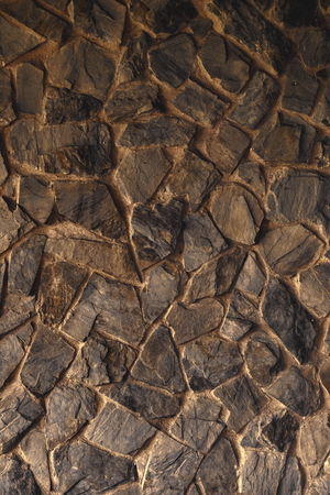 Stone wall texture as background