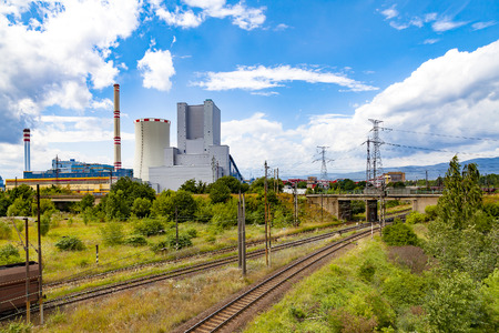 Petrochemical plant and train tracks in Czech Republic