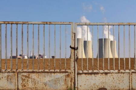 Nuclear power plant Temelin behind an iron gate
