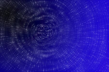 Abstract dark blue space with deep cosmic space filled by stars.