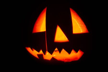 Halloween pumpkin as background.Holidays image of Halloween.