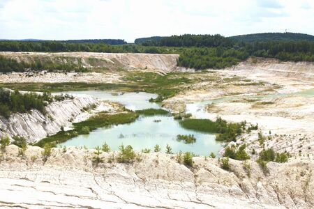 Kaolin lake. The man-made lake, turned from a mining ground holes.