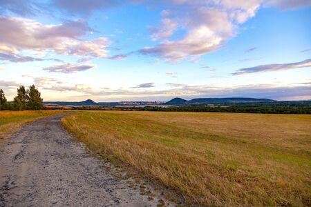 Mostecko brown coal mining region in Czech republic. Industrial landscape.