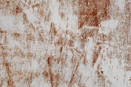 Rusty corroded iron plate surface for grunge background