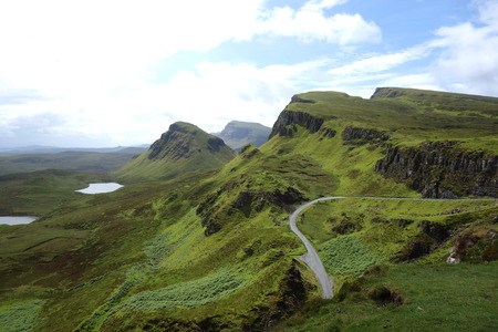 isles: View from Quiraing to the Staffin Bay, Isle of Skye, Scotland