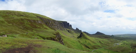 skye: View from Quiraing to the Staffin Bay, Isle of Skye, Scotland