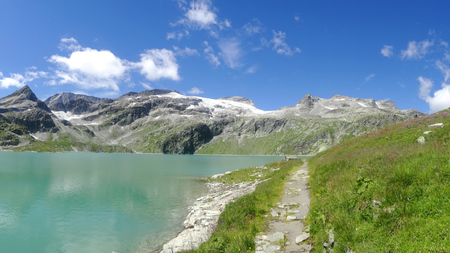 View from Weissee, Hohe tauern, Zell am see, Salzburgland, Austria, Europe Stock Photo