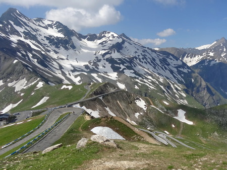 grossglockner: High mountain roads and the Grossglockner mountain in Austria