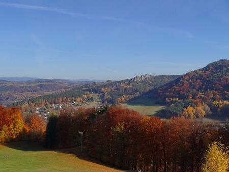 stoney: View on Suche skaly, Mala skala, Bohemian paradise, Czech republic Stock Photo