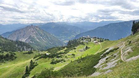 The view on the Rofan, Achensee, Tirol Austria