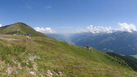 wildkogel austria: View from Wildkogel, Neukirchen, Hohen tauren, Zell am see, Salzburg, Austria Stock Photo