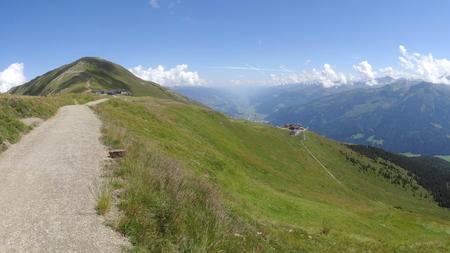 View from Wildkogel, Neukirchen, Hohen tauren, Zell am see, Salzburg, Austria Stock Photo