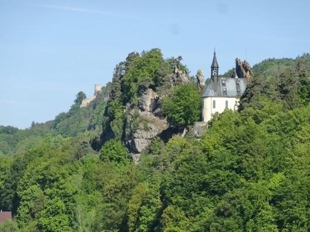 stoney: View on Vranov castle ruin, Mala skala, Bohemian paradise, Czech republic