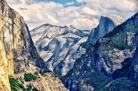 Yosemite landscape with Half Dome