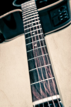 Acoustic guitar detail view Stock Photo - 11509939