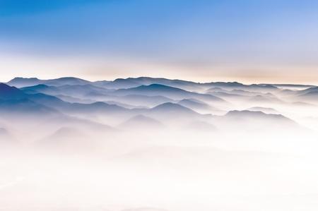 Misty mountain hills Zdjęcie Seryjne
