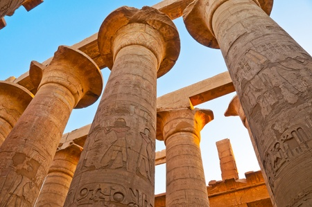 Great Hypostyle Hall at the Temples of Karnak (ancient Thebes). Luxor, Egypt photo