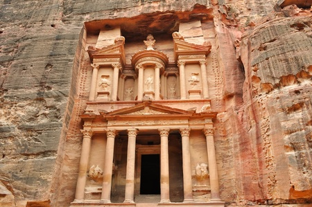 Al Khazneh front view - the treasury of Petra ancient city, Jordan
