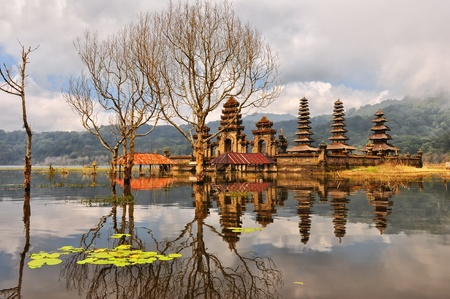Balinese temple on Tamblingan lake, Bali