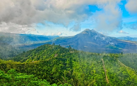 Volcano mount Gunung Batur, Kintamani, Bali Stock Photo - 12197196
