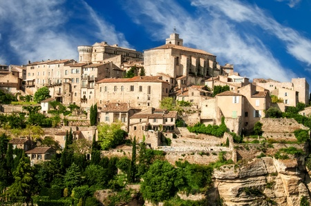 Provence village Gordes scenic overlook photo