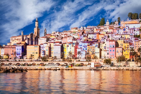 Provence village Menton scenic view photo
