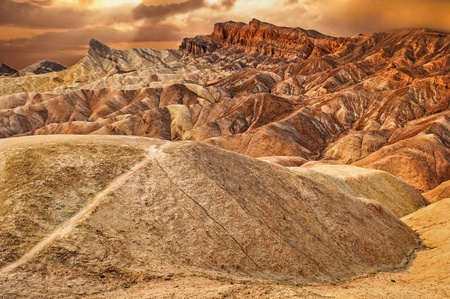 Zabriskie point desert sunset photo