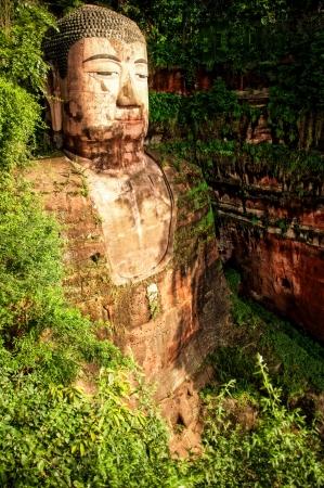 Leshan Buddha statue, China Zdjęcie Seryjne