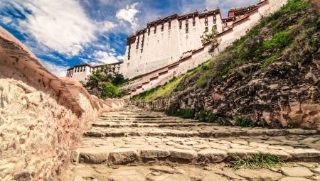 lamaism: Potala buddhist temple in Lhasa, Tibet