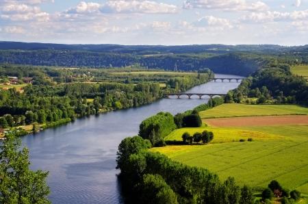 Dordogne, Cingle de Tremolat Punkt, Frankreich Standard-Bild - 15255912